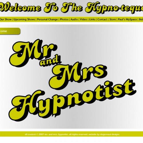 Screen shot of original Mr and Mrs Hypnotist Site