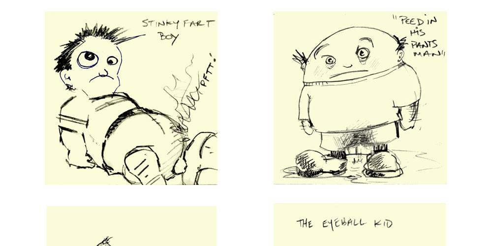 Sticky note doodles