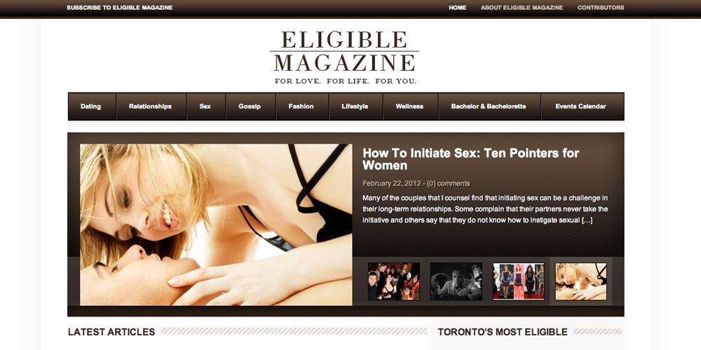 The New Eligible Magazine website